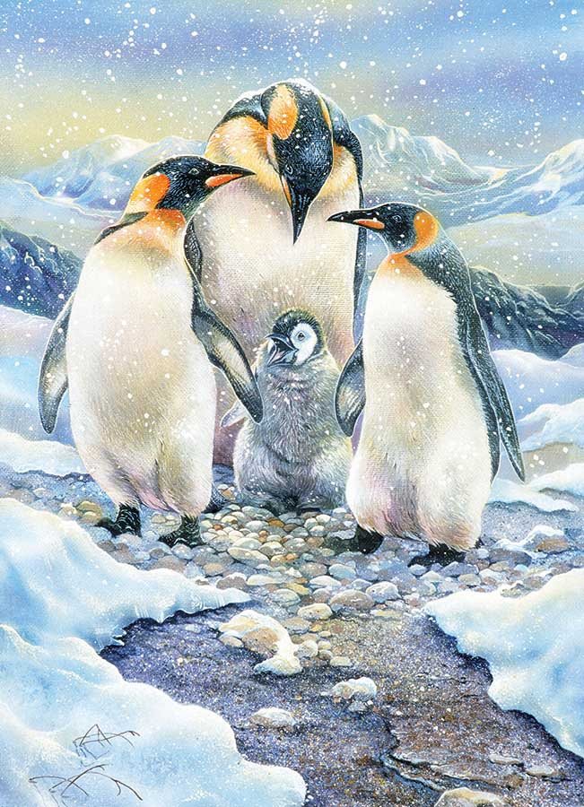 Penguin Family Birds Jigsaw Puzzle