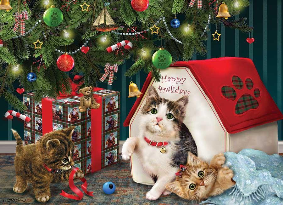 Happy Pawlidays Cats Jigsaw Puzzle