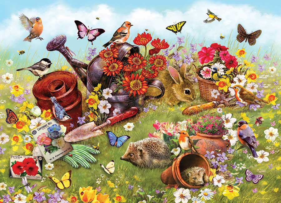 Garden Scene Animals Jigsaw Puzzle
