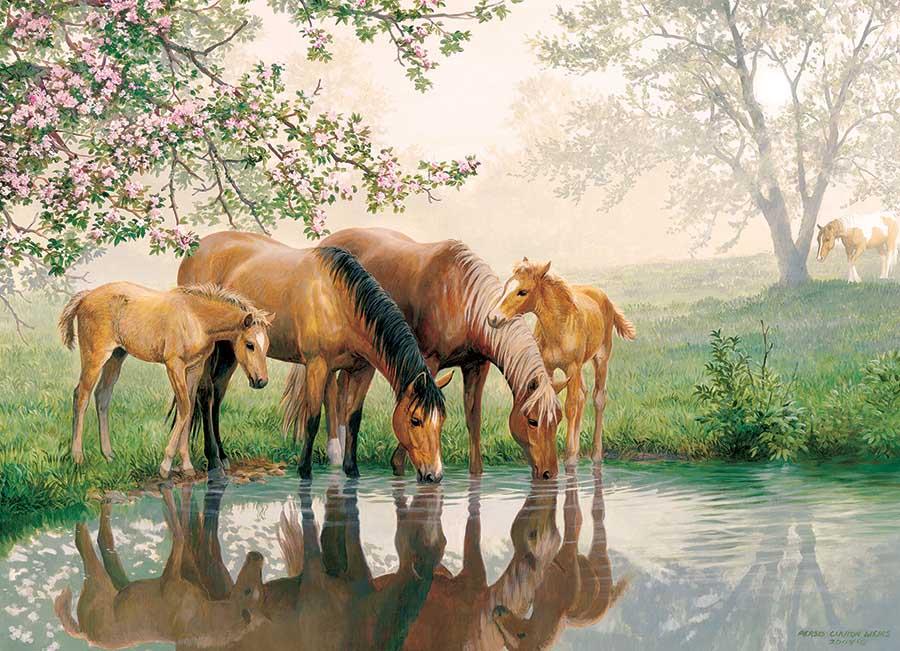 Horse Family Horses Jigsaw Puzzle