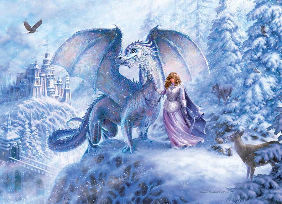 Ice Dragon Castles Jigsaw Puzzle