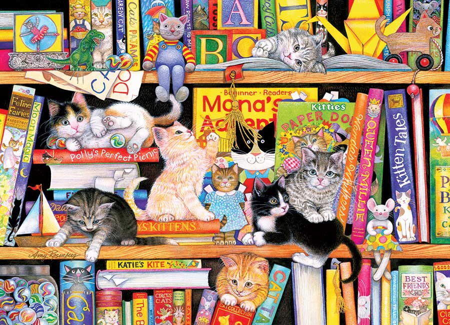Storytime Kittens Cats Jigsaw Puzzle
