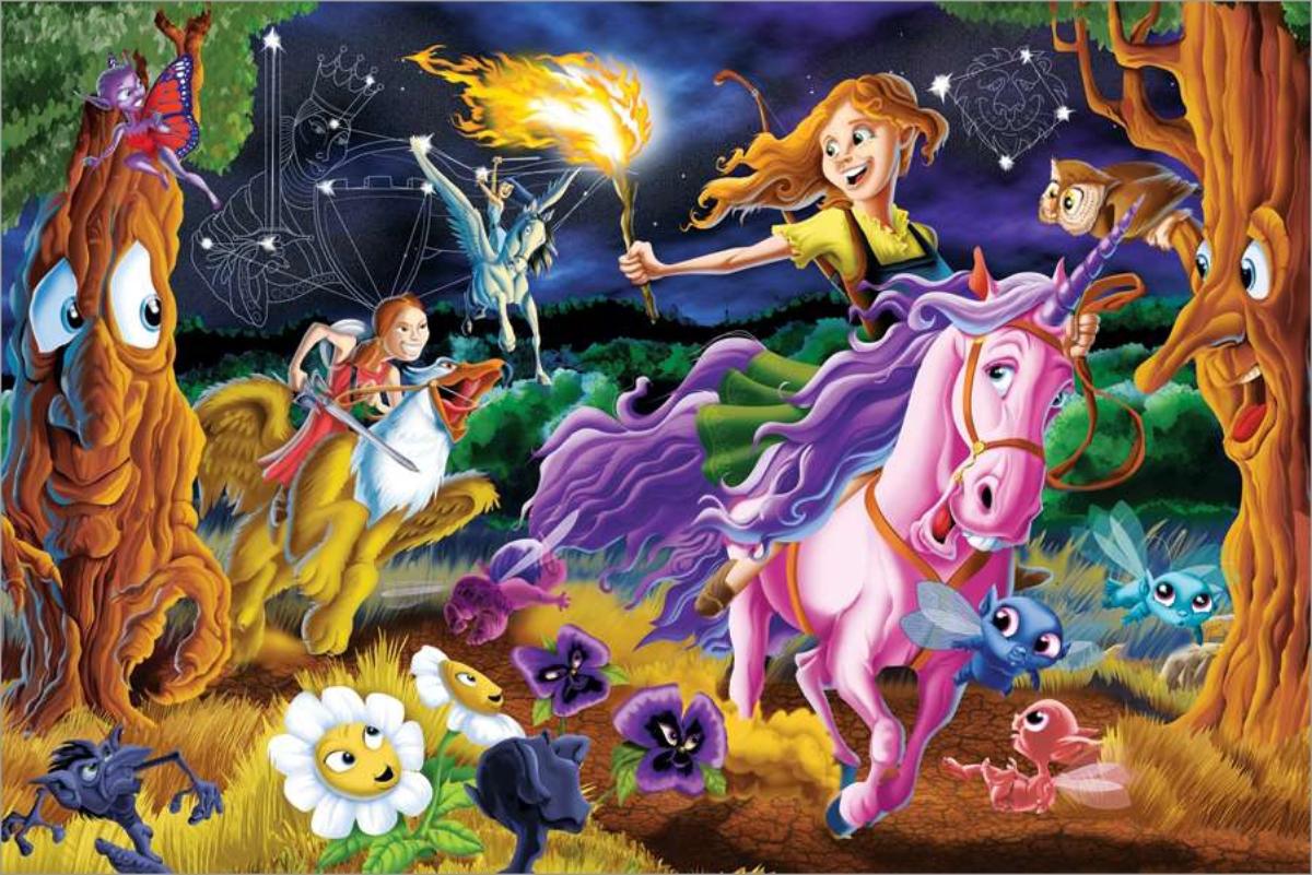 Mystical World Fairies Floor Puzzle