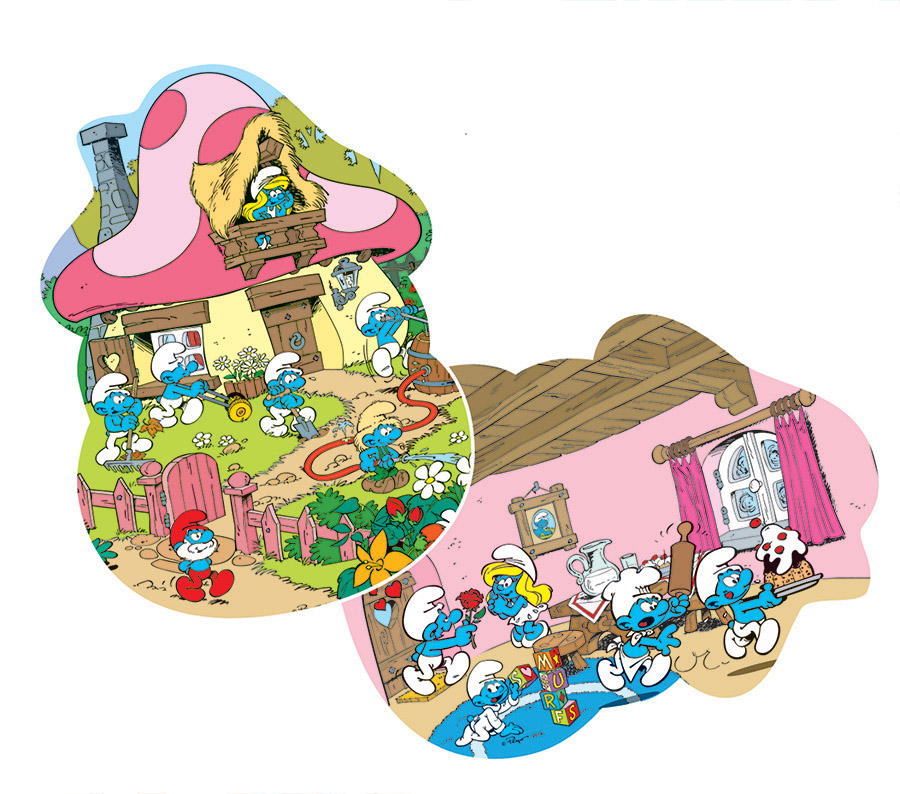 Smurfette's House Cartoons Shaped Puzzle