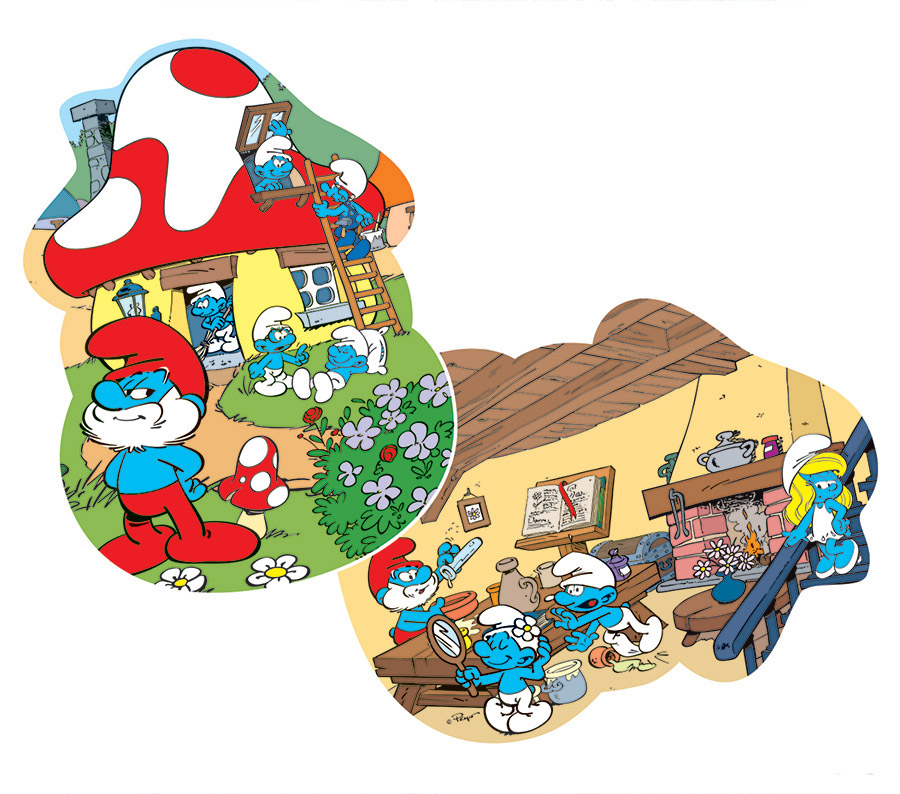 Papa's House Cartoons Shaped Puzzle
