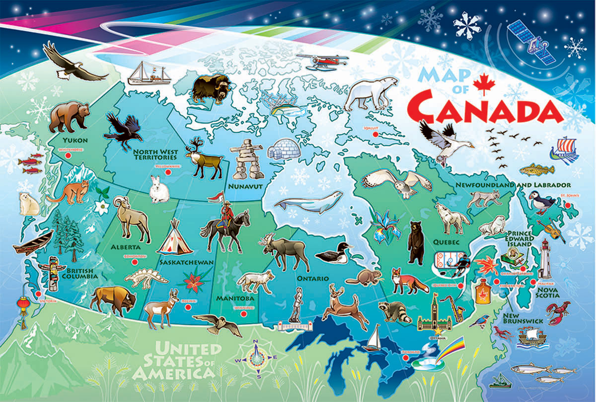 Map of Canada Travel Children's Puzzles