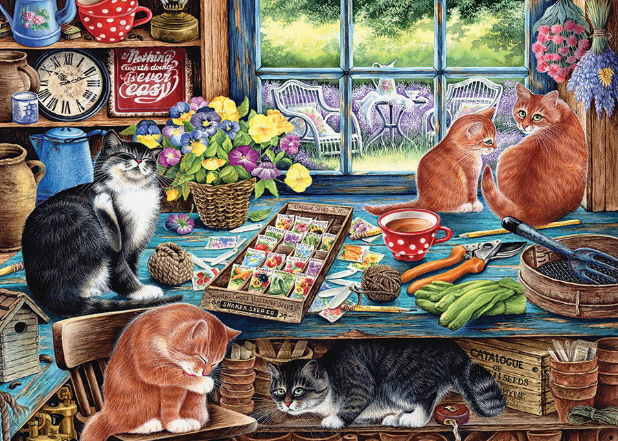 Garden Shed Cats Cats Jigsaw Puzzle