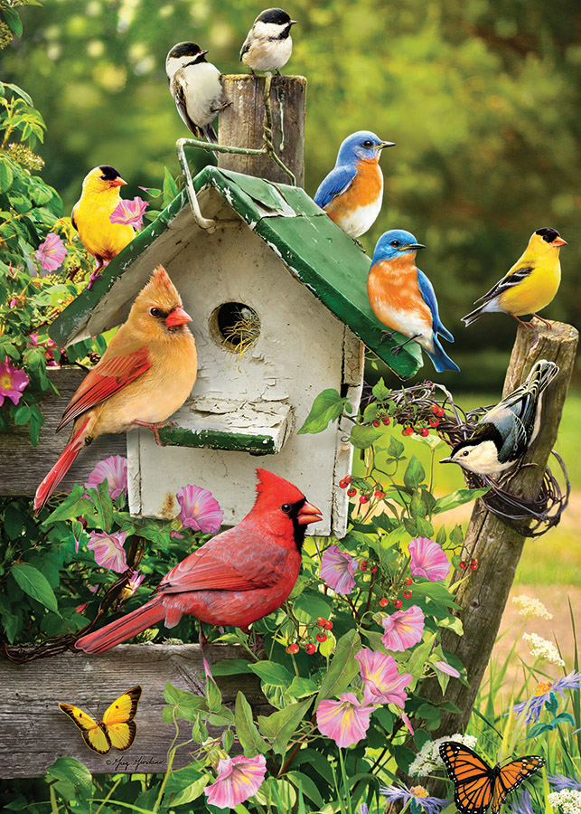 Singing Around the Birdhouse Birds Jigsaw Puzzle