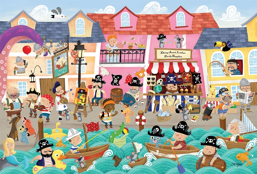 Pirates on Vacation Beach Jigsaw Puzzle