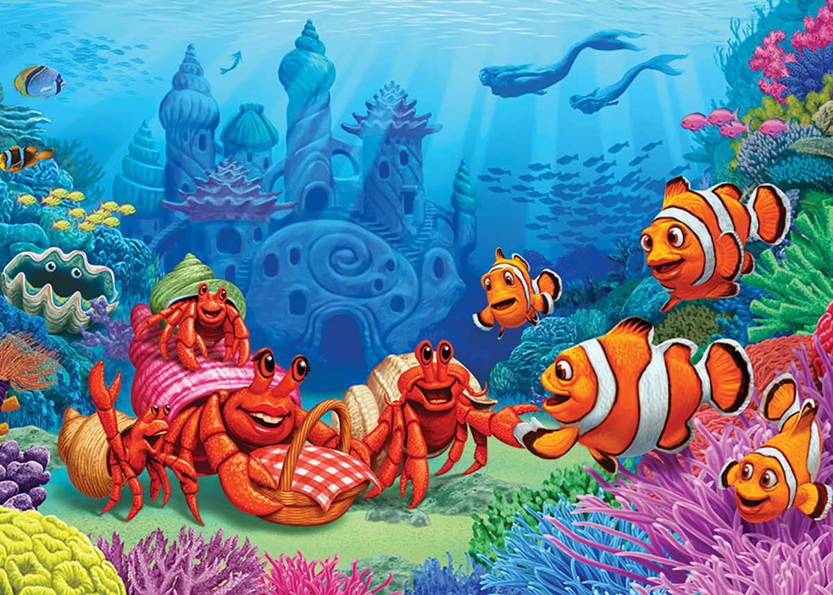 Clownfish Gathering Under The Sea Jigsaw Puzzle