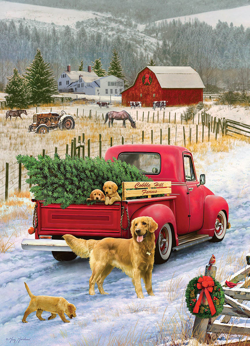 Red Truck Farm Farm Jigsaw Puzzle