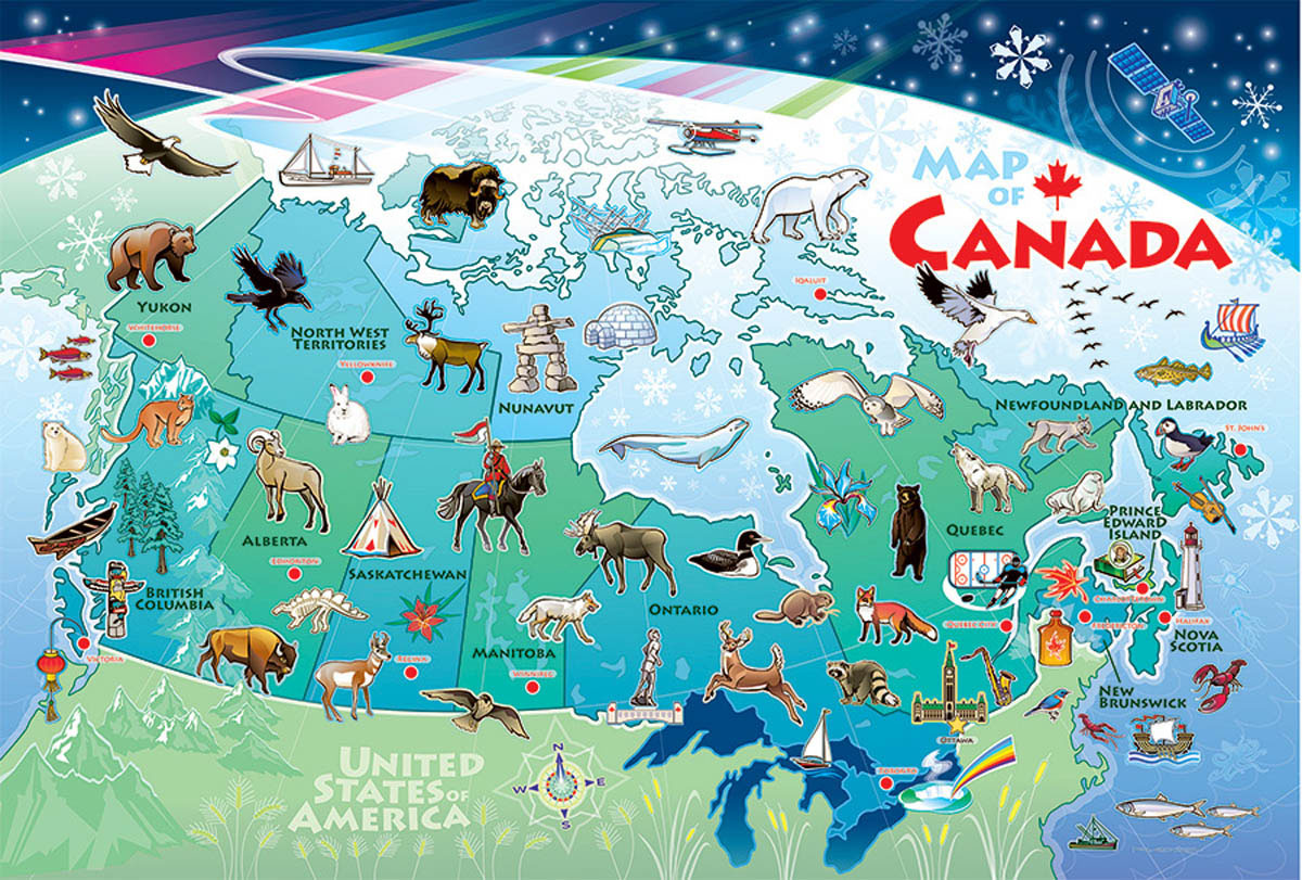 Canada Map Travel Jigsaw Puzzle