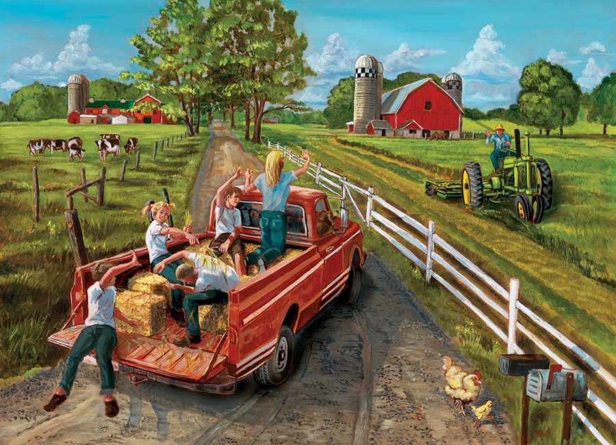 Hayride - Scratch and Dent Countryside Jigsaw Puzzle