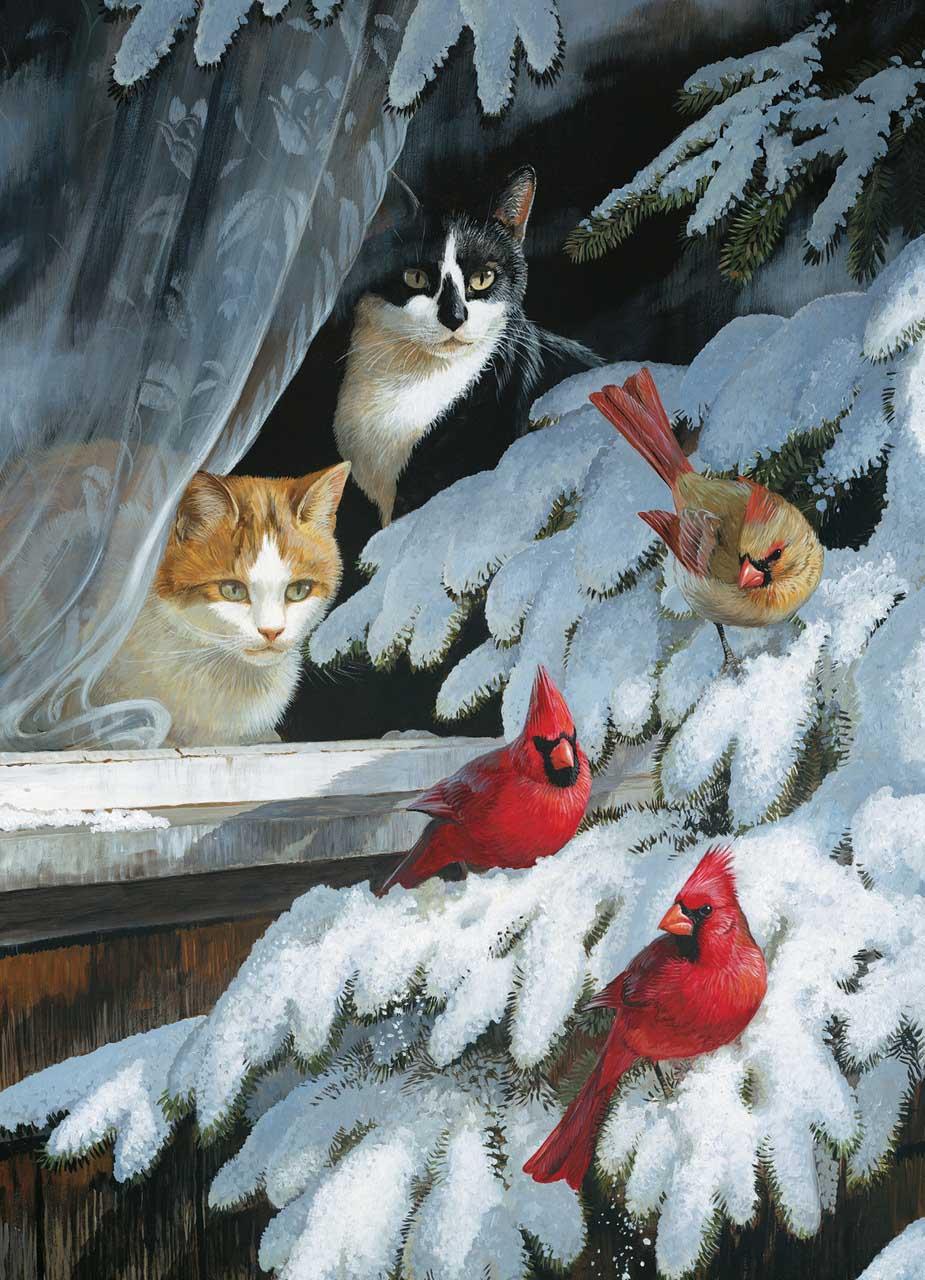 Bird Watchers Cats Jigsaw Puzzle