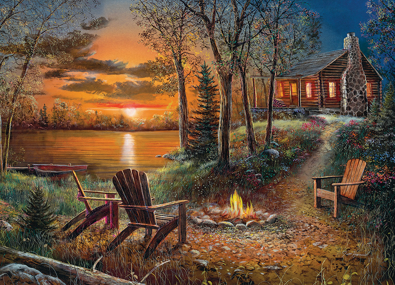 Fireside Summer Jigsaw Puzzle