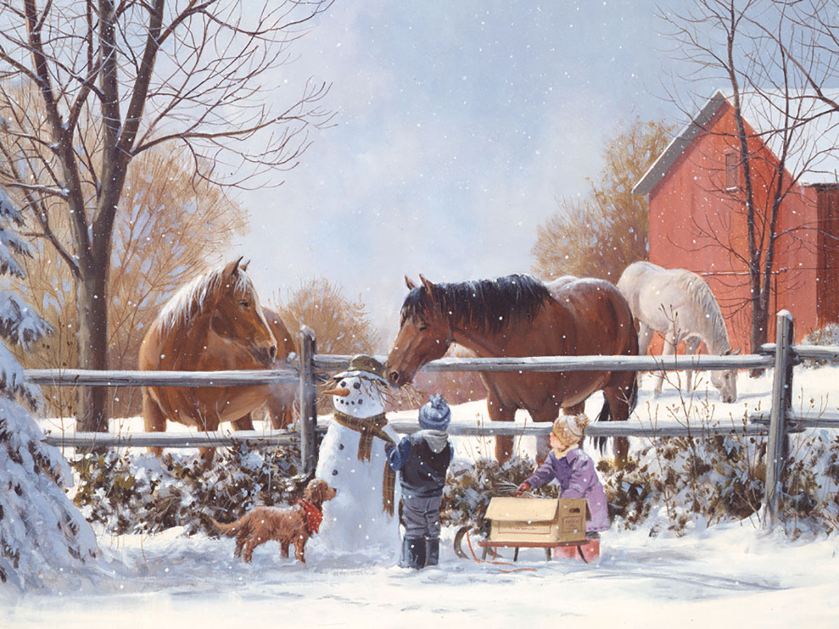 Frosty's Friends Winter Jigsaw Puzzle