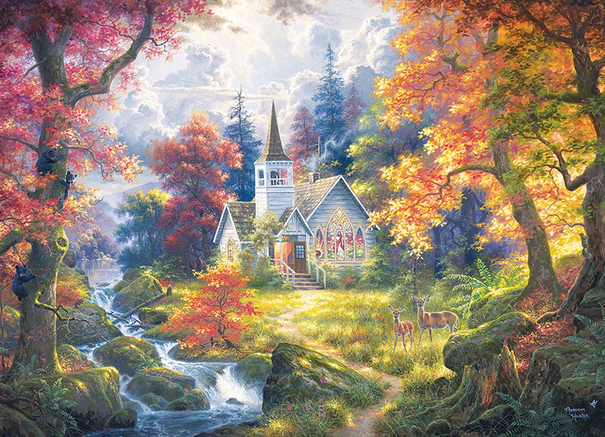 Chapel Of Hope Forest Jigsaw Puzzle
