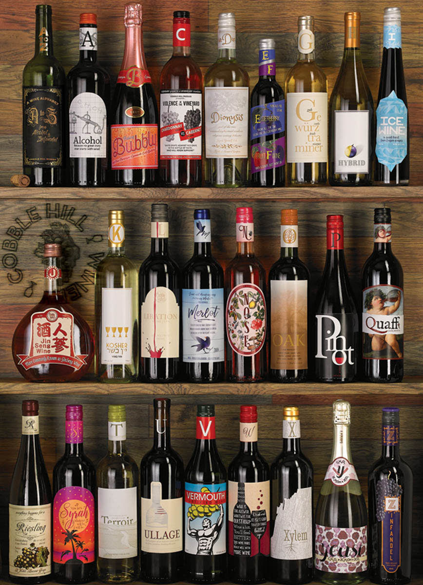 Wine Alphabet Food and Drink Jigsaw Puzzle