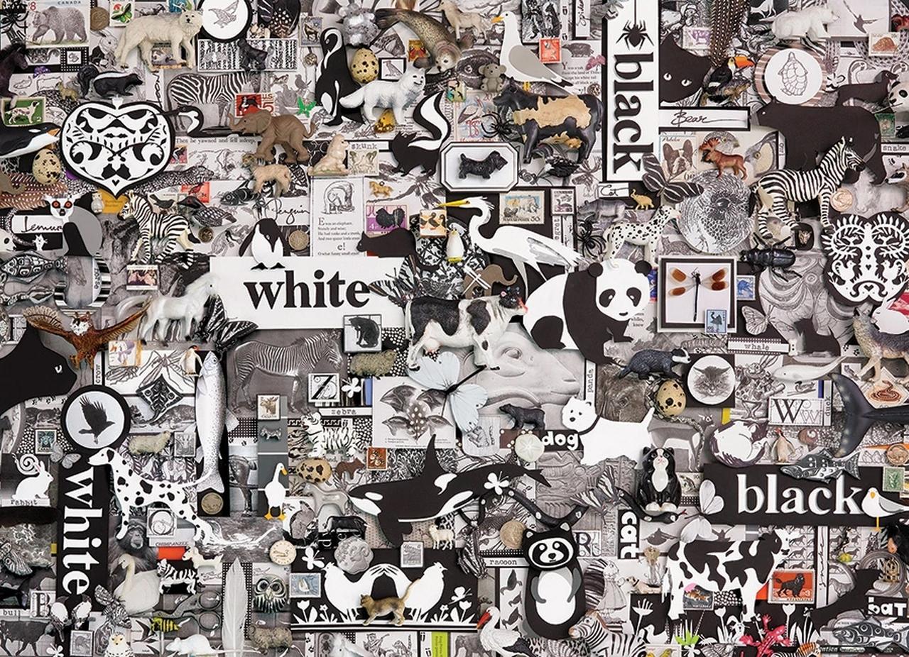 Black & White: Animals Animals Jigsaw Puzzle