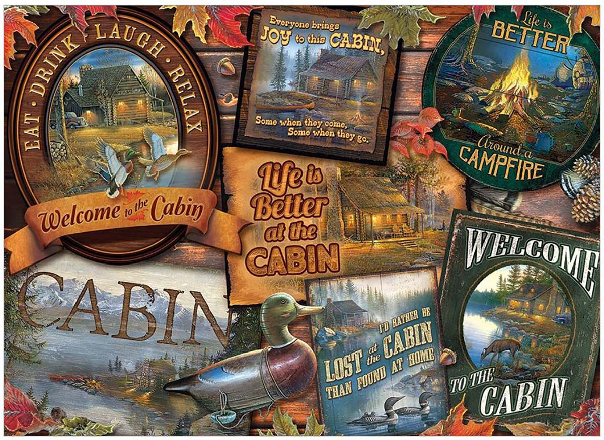 Cabin Signs Collage Jigsaw Puzzle