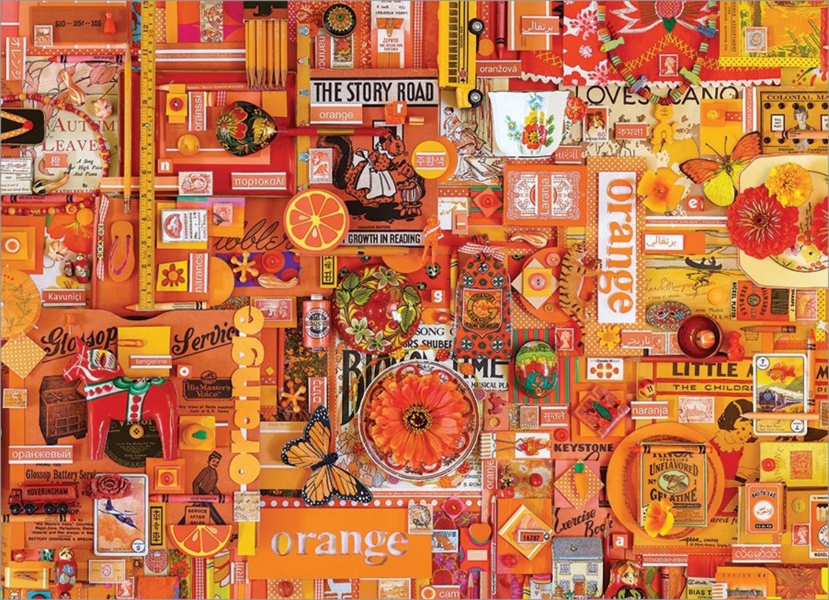 Orange Everyday Objects Jigsaw Puzzle