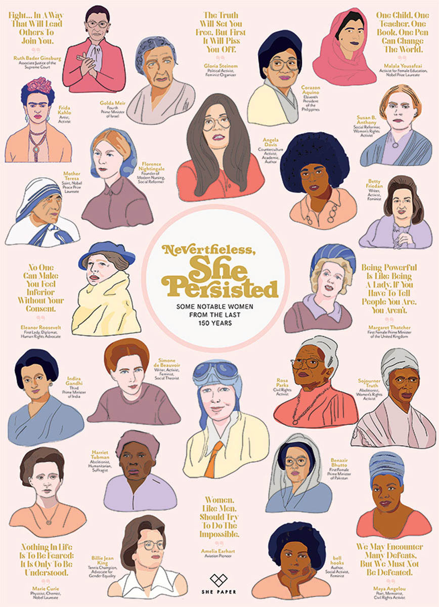 Nevertheless She Persisted Famous People Jigsaw Puzzle