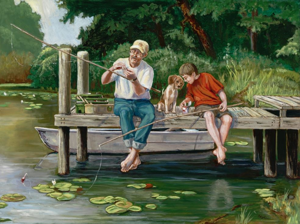On the Dock People Jigsaw Puzzle
