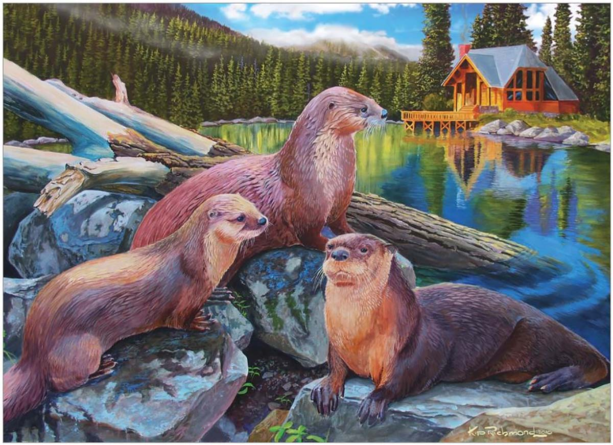River Otters Animals Jigsaw Puzzle