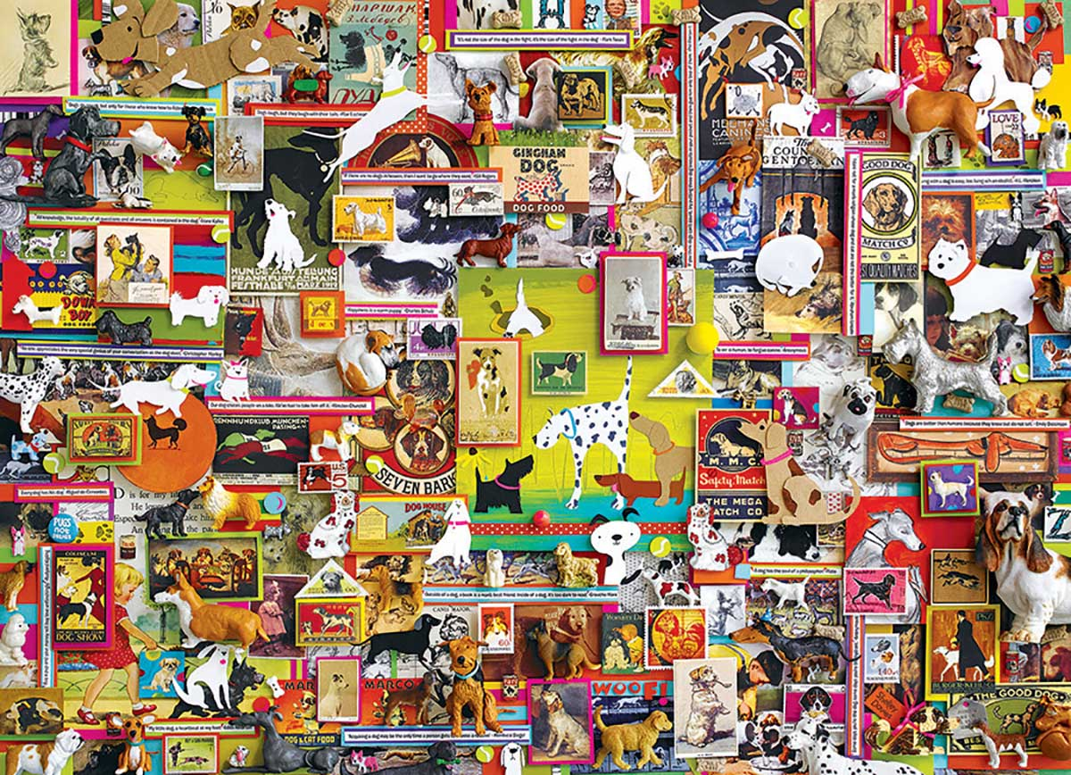 Dogtown Dogs Jigsaw Puzzle