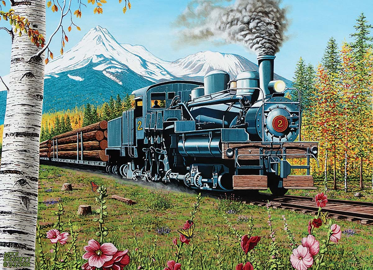 Lumbering Along Mountains Jigsaw Puzzle
