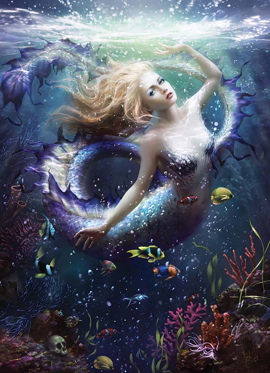 Onde Mermaids Jigsaw Puzzle