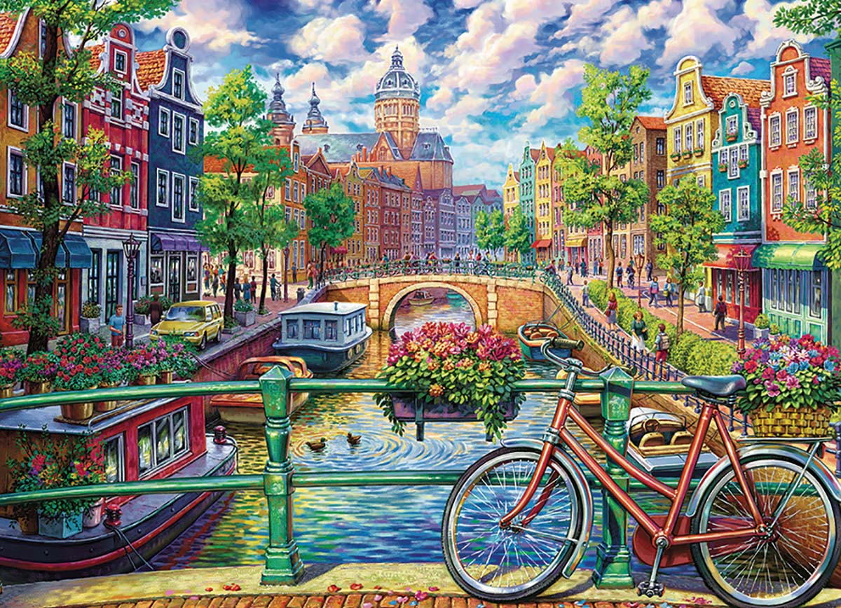 Amsterdam Canal Europe Jigsaw Puzzle