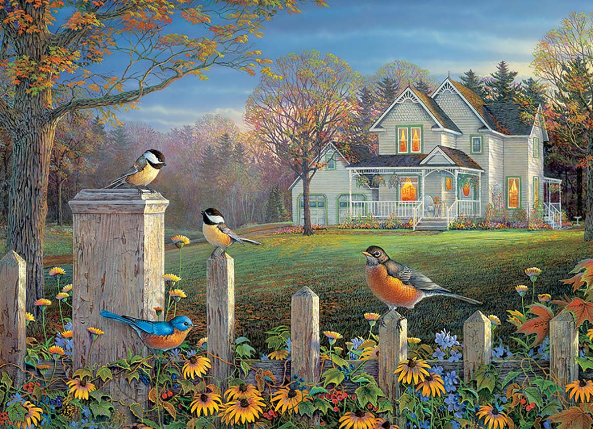 Evening Birds Birds Jigsaw Puzzle