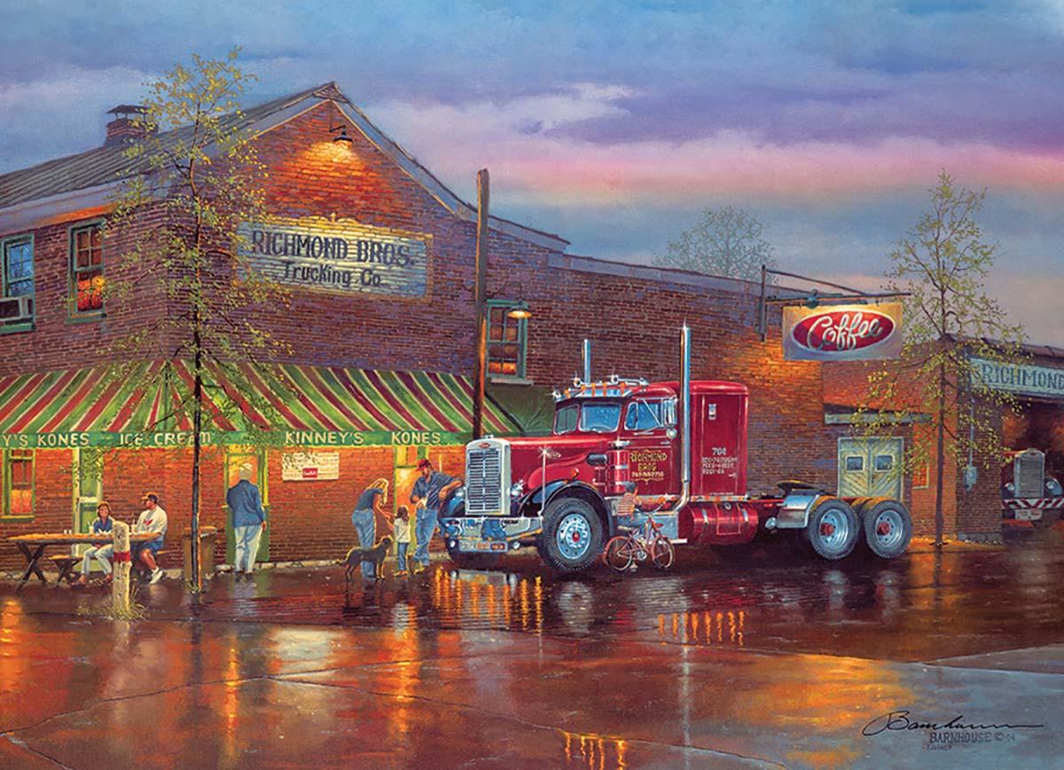 Big Red Street Scene Jigsaw Puzzle