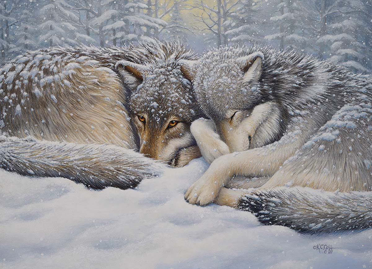 Winter Repose Animals Jigsaw Puzzle