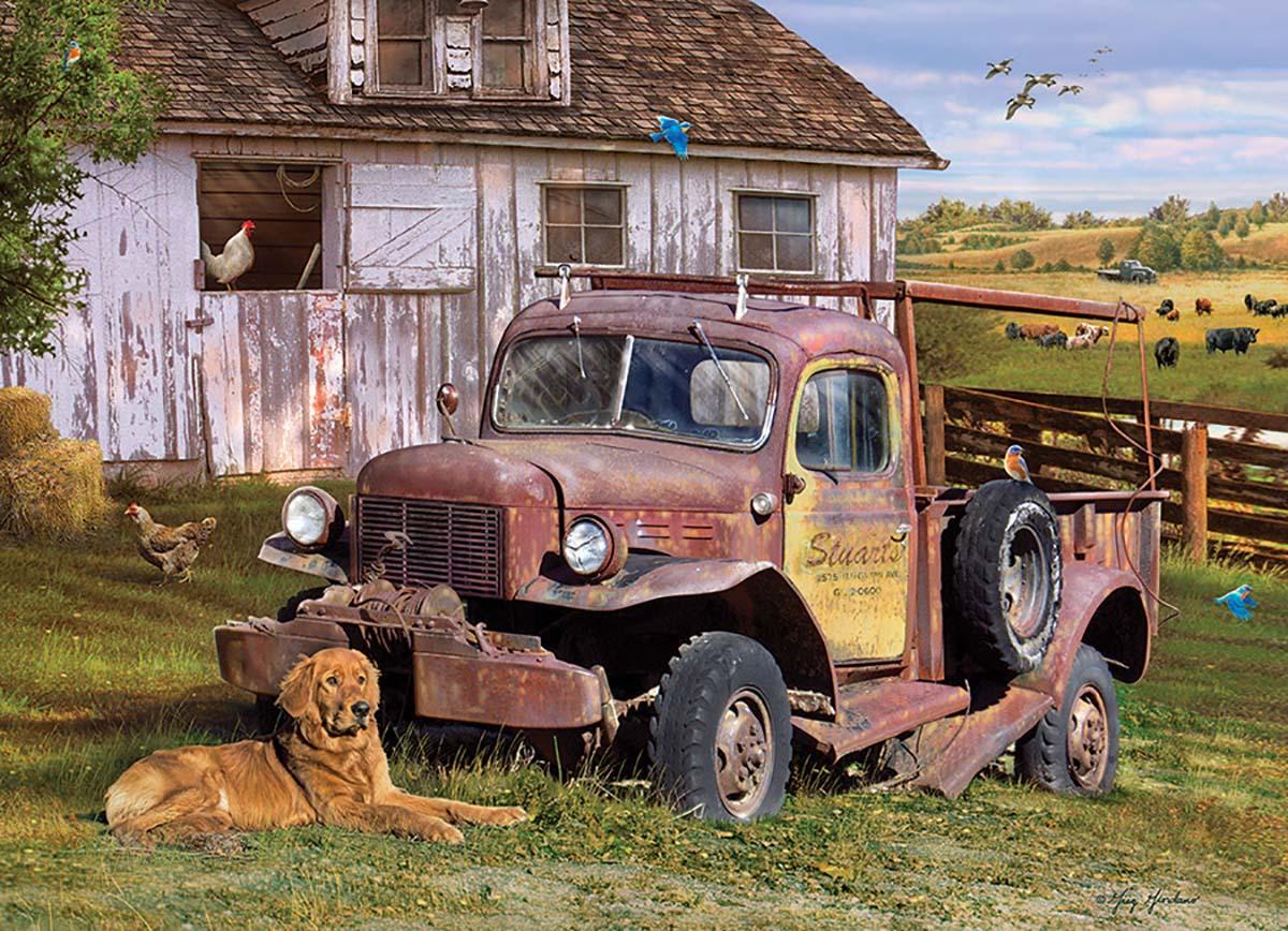 Summer Truck - Scratch and Dent Farm Jigsaw Puzzle