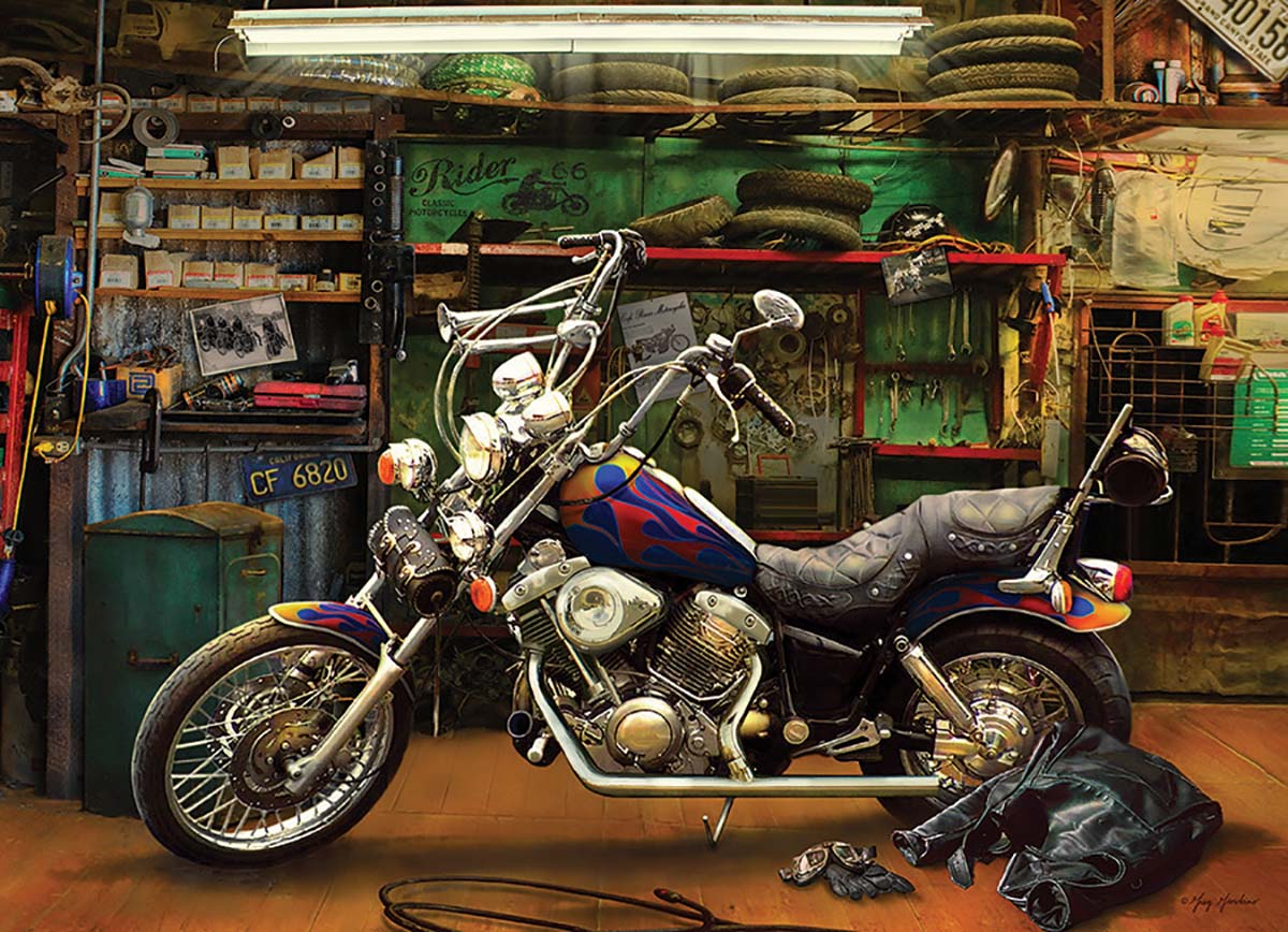 Chopper Motorcycles Jigsaw Puzzle