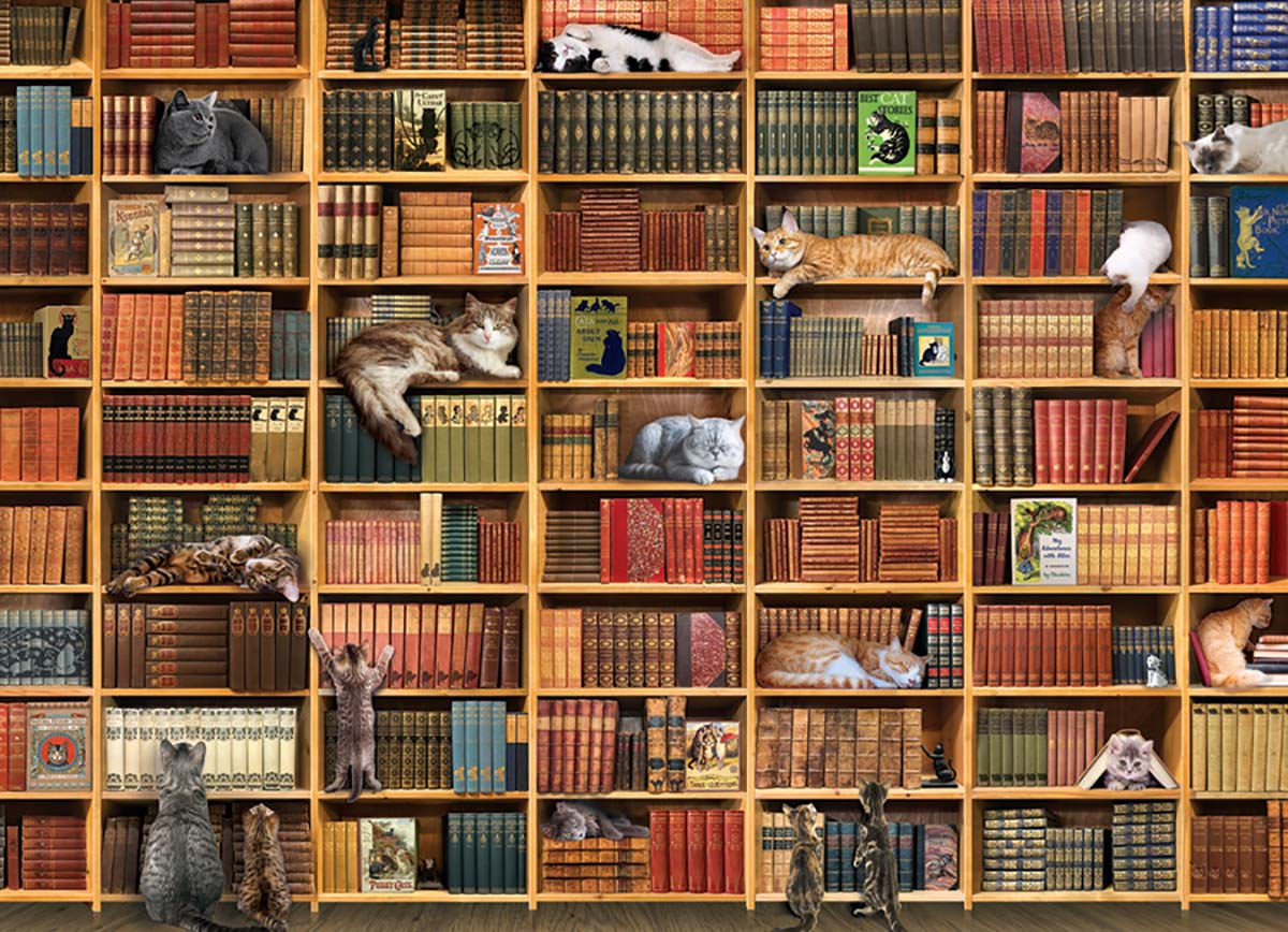 The Cat Library Cats Jigsaw Puzzle