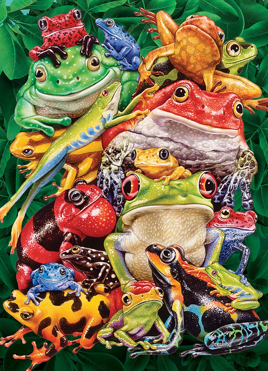 Frog Business Reptiles / Amphibians Jigsaw Puzzle