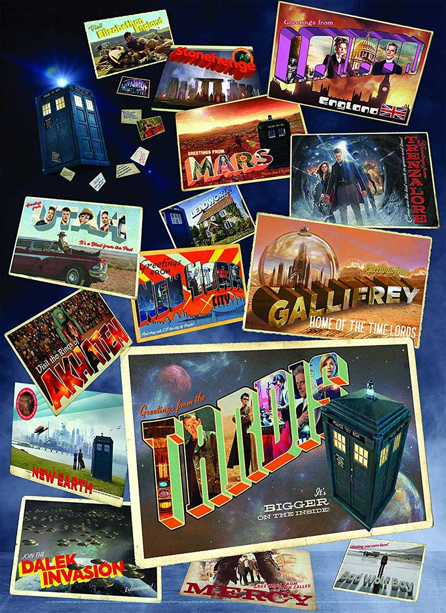 Doctor Who: Postcards Movies / Books / TV Jigsaw Puzzle