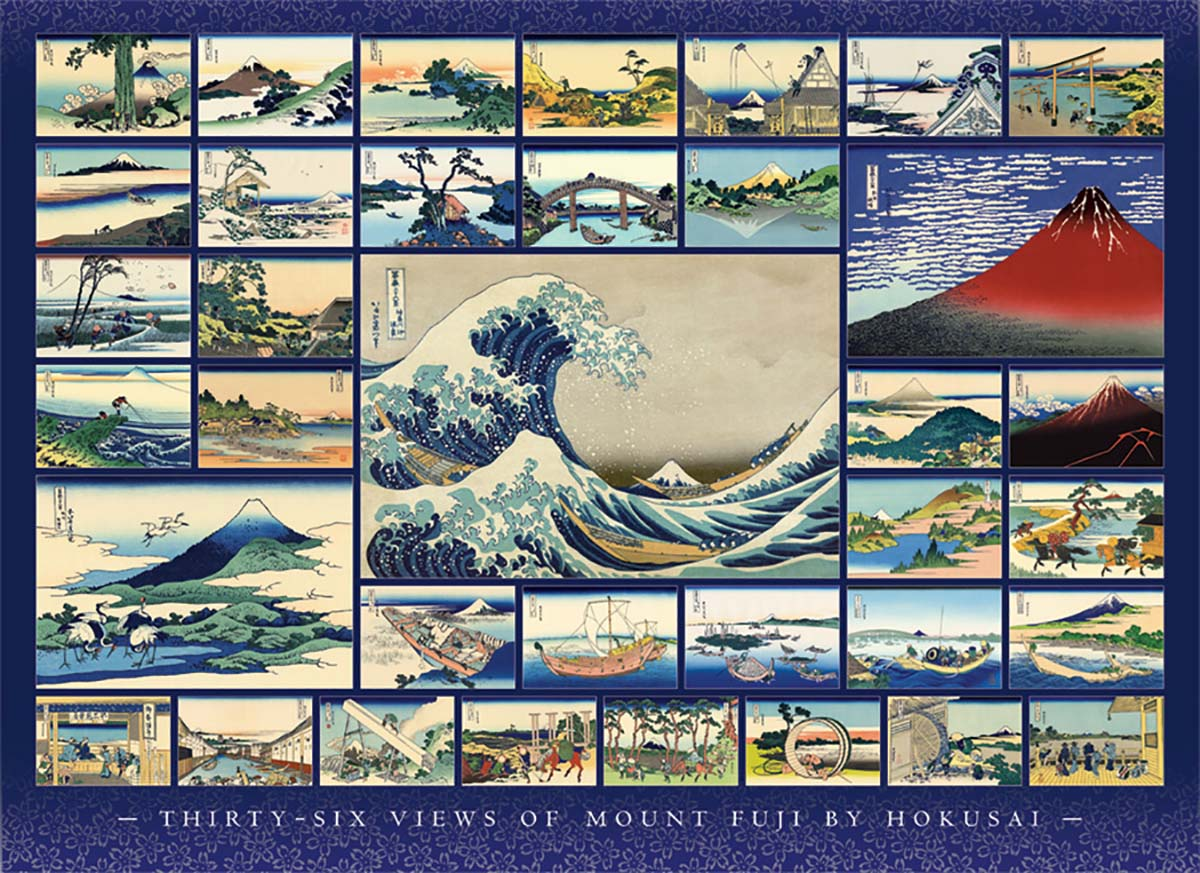 Hokusai Travel Jigsaw Puzzle