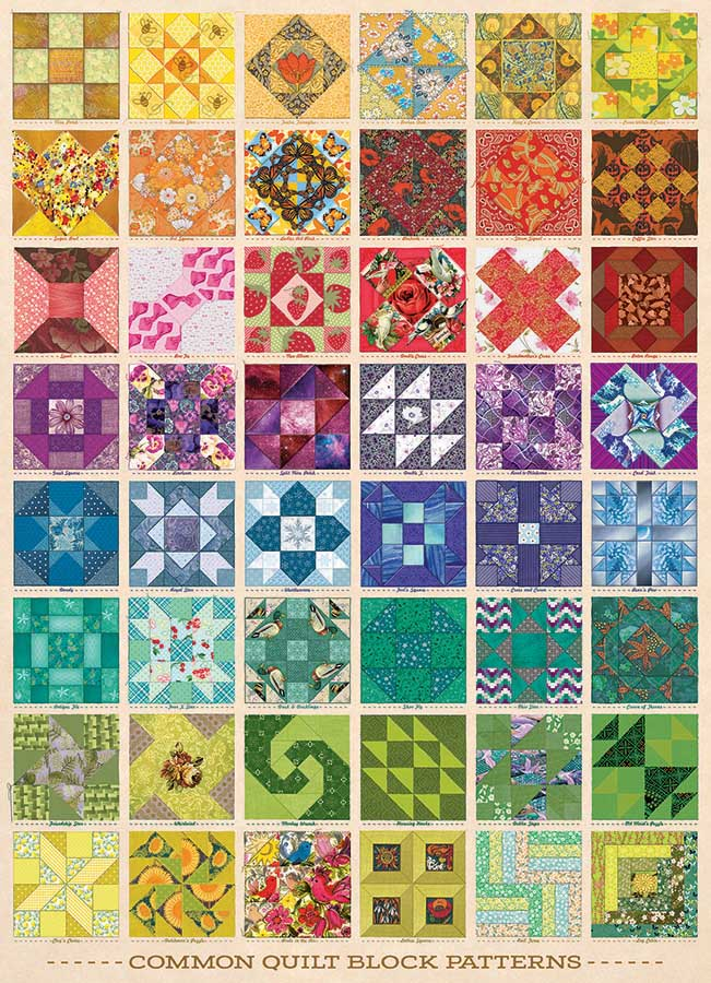 Common Quilt Blocks Crafts & Textile Arts Jigsaw Puzzle