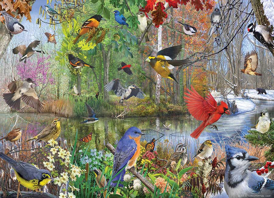 Birds of the Season Birds Jigsaw Puzzle