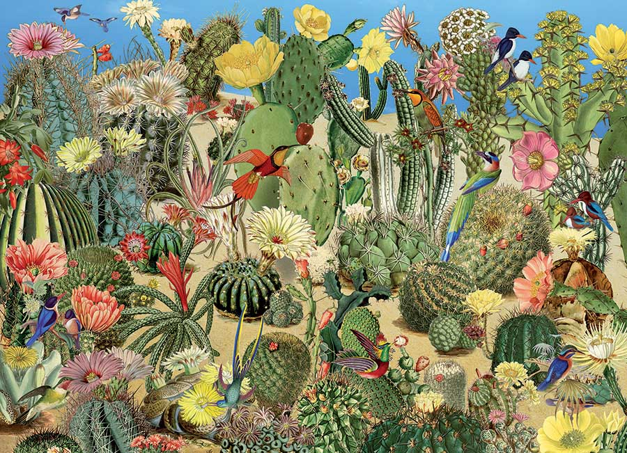 Cactus Garden Birds Jigsaw Puzzle