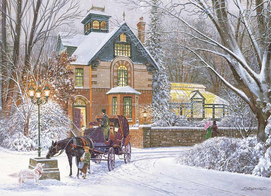 An Evening Stroll Winter Jigsaw Puzzle