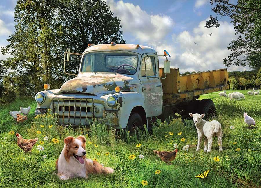 Sheep Field Dogs Jigsaw Puzzle