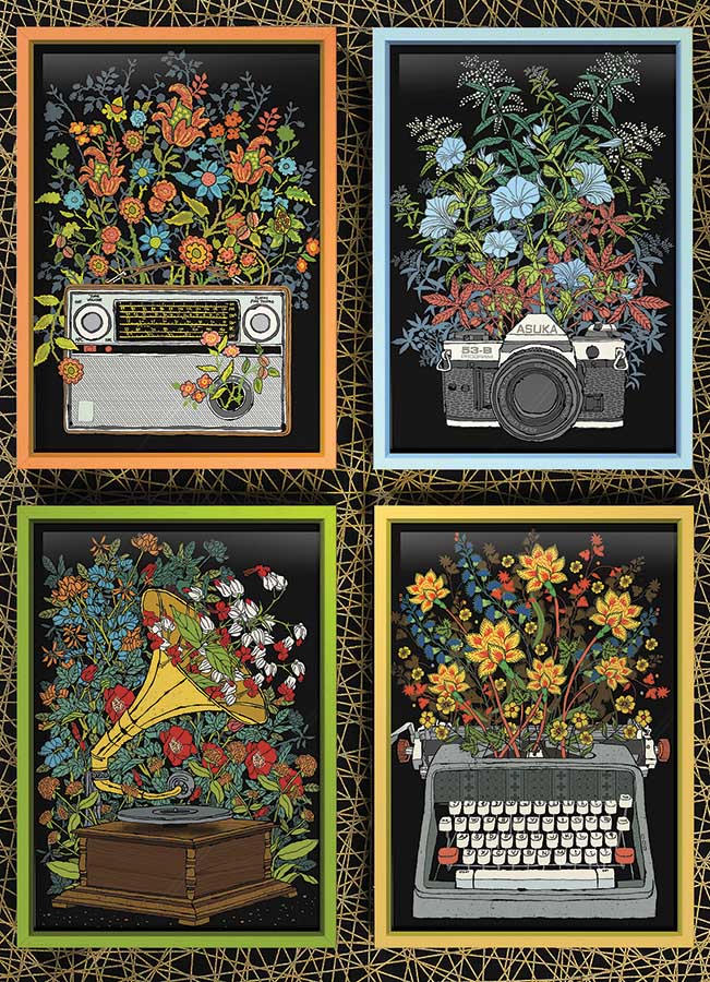 Floral Objects Flowers Jigsaw Puzzle