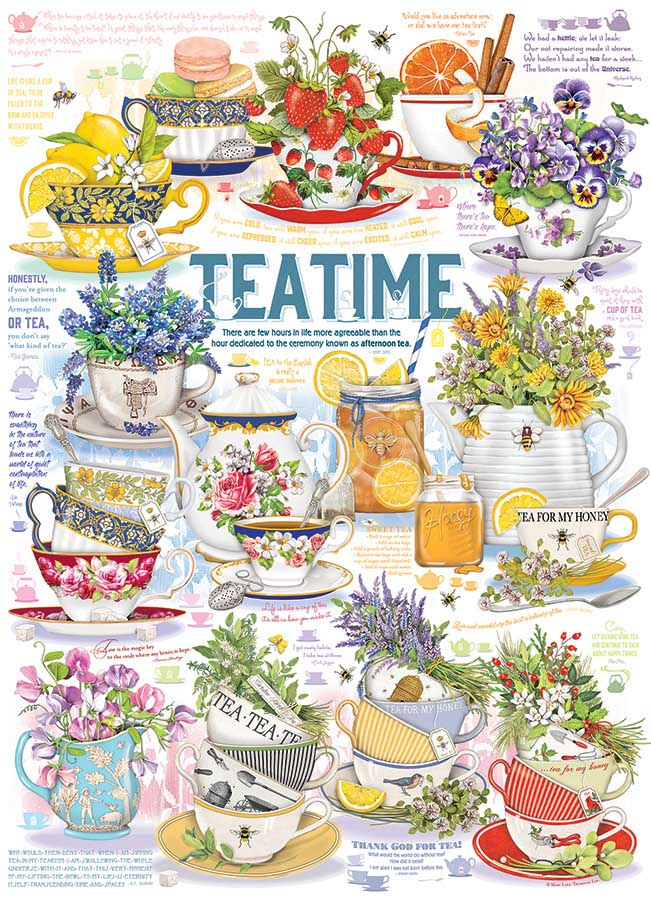 Tea Time Food and Drink Jigsaw Puzzle