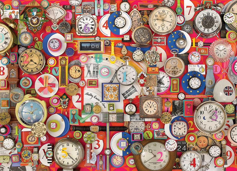 Timepieces Everyday Objects Jigsaw Puzzle