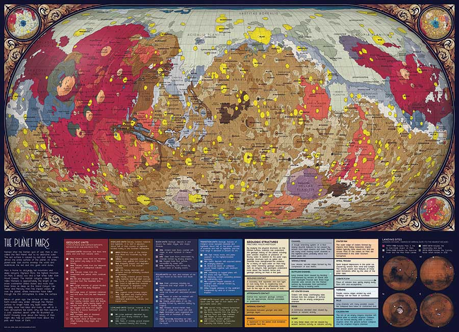 The Planet Mars Space Jigsaw Puzzle